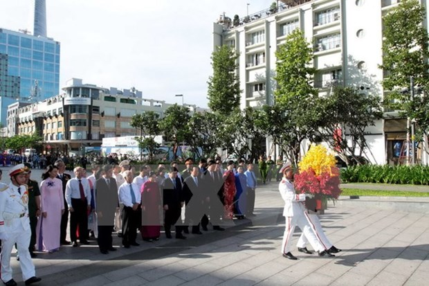 Ho Chi Minh City leader pays tribute to late President hinh anh 1