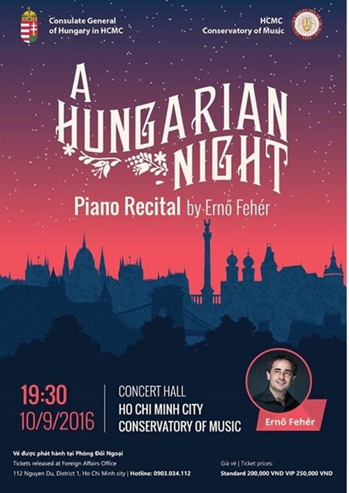 Hungarian pianist to perform at HCM City Conservatory hinh anh 1