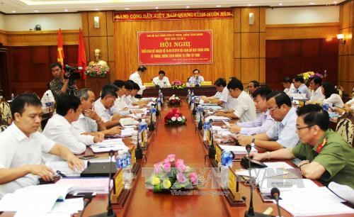 Party delegation examines counter-corruption in Tay Ninh hinh anh 1