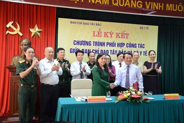 Northwestern steering committee, health ministry sign agreement hinh anh 1
