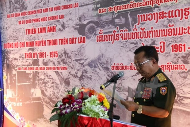 Exhibition on Ho Chi Minh Trail in Laos opens in Vientiane hinh anh 1