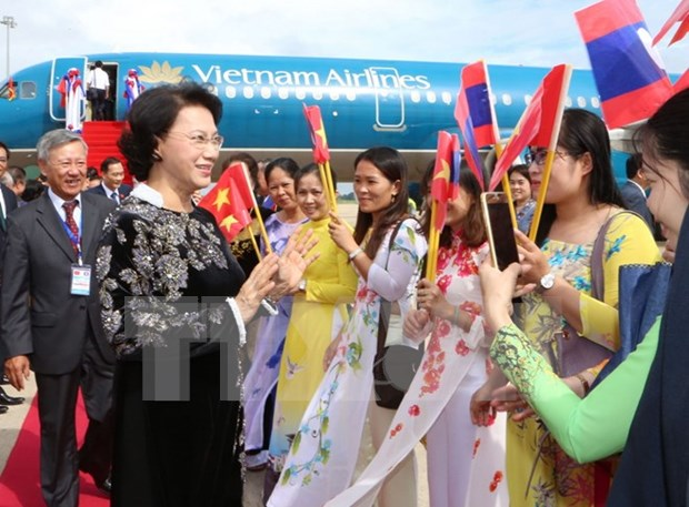 National Assembly Chairwoman starts official visit to Cambodia hinh anh 1