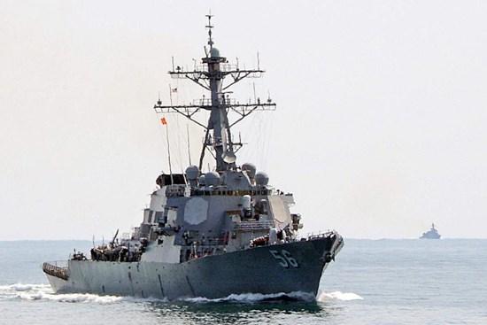 US naval ship visits Da Nang hinh anh 1