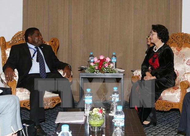 Vietnamese top legislator receives IPU Secretary General hinh anh 1