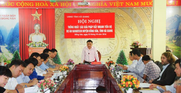 Conference on water project in Ha Giang hinh anh 1