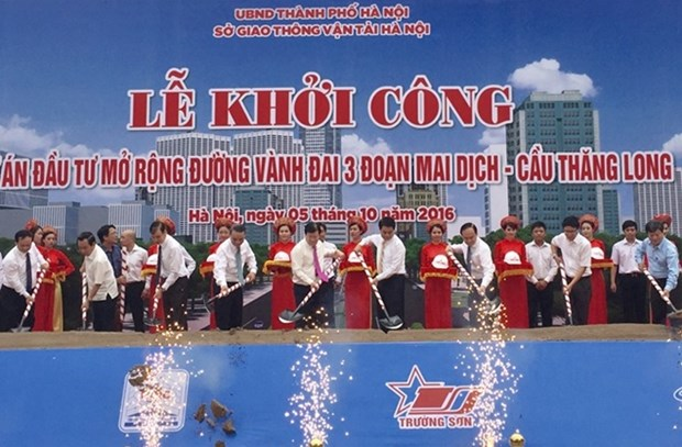 Work starts on Hanoi's Ring Road 3 extension hinh anh 1