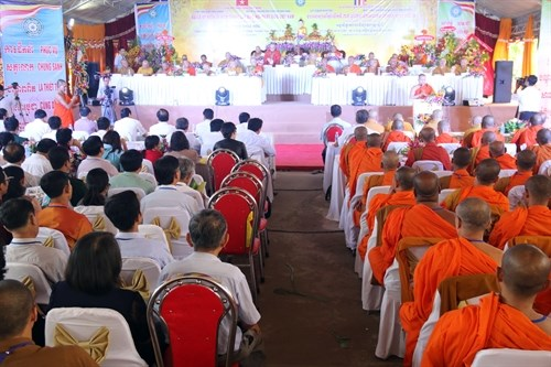 Buddhist Sangha's 35th anniversary celebrated in Kien Giang hinh anh 1