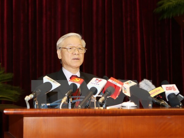 Party chief gives direction at Party Central Committee's plenum hinh anh 1