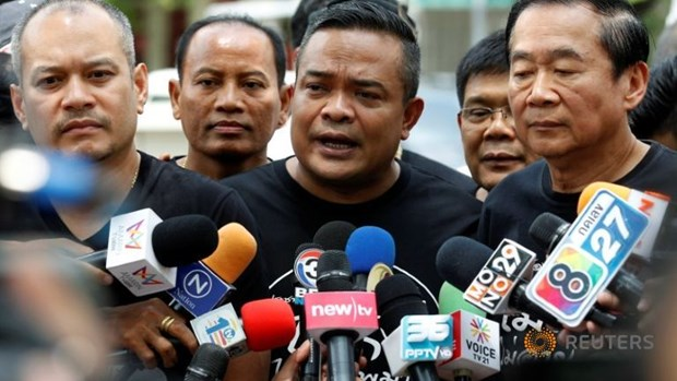 Thai Red Shirt leader imprisoned for using harsh words hinh anh 1