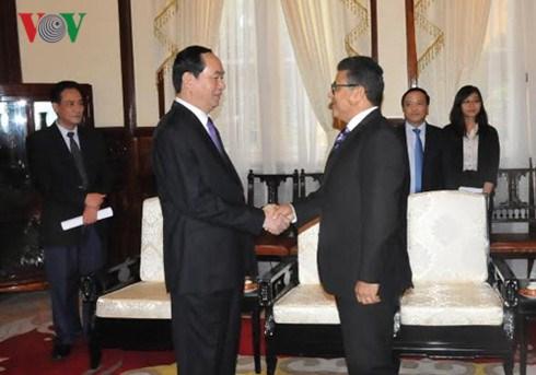 President receives Palestinian ambassador hinh anh 1