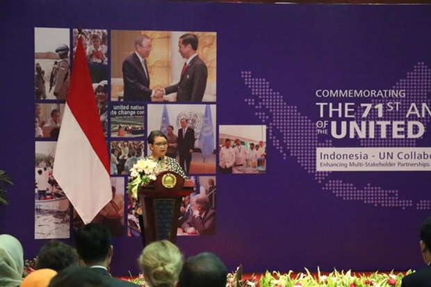 UN's 71st founding anniversary marked in Indonesia hinh anh 1