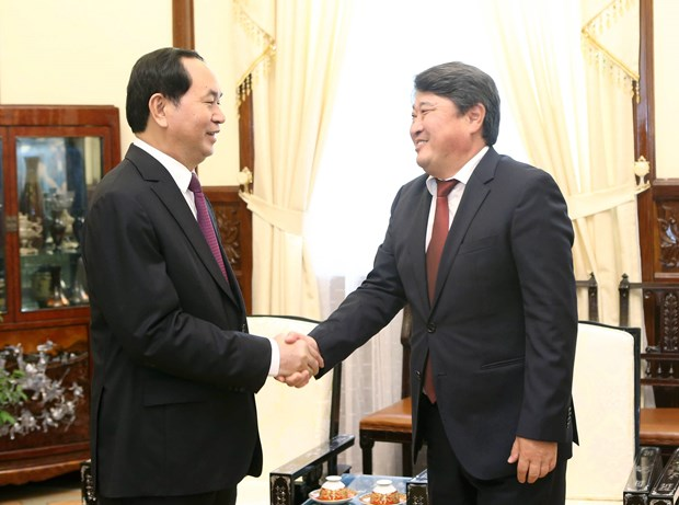 President hosts outgoing Mongolian Ambassador hinh anh 1