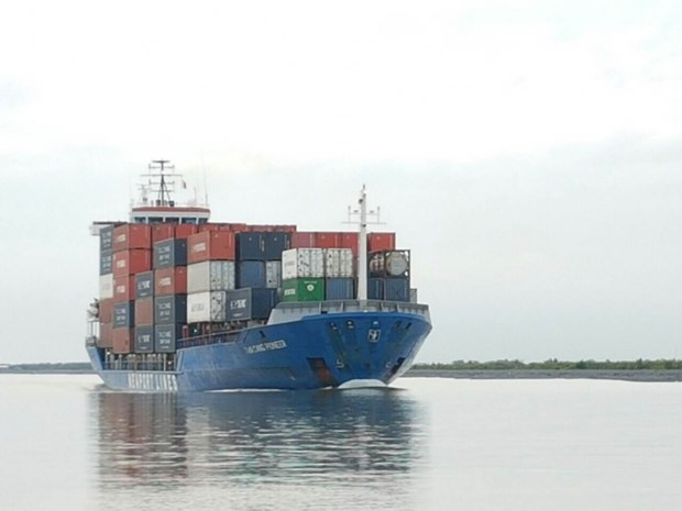 Can Tho's port receives first large container ship hinh anh 1