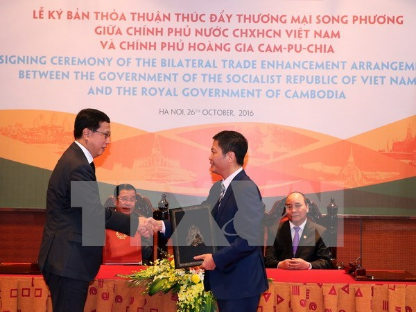 Vietnam, Cambodia agree to boost trade ties hinh anh 1