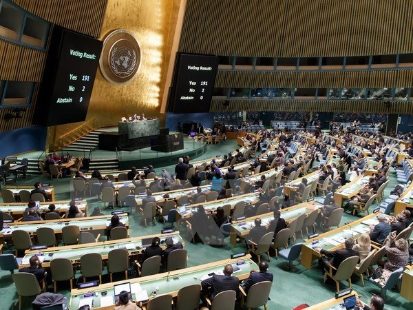 UN General Assembly adopts resolution condemning US embargo on Cuba hinh anh 1