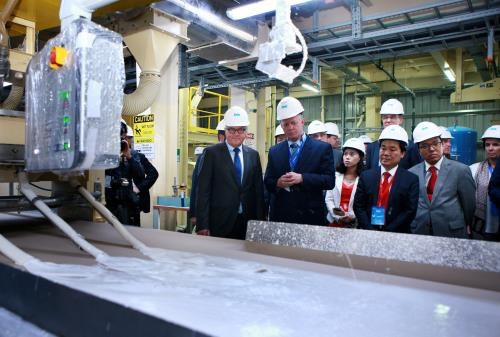 FDI-invested gypsum board plant inaugurated in Hai Phong hinh anh 1
