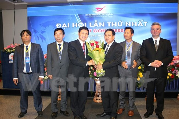 Vietnamese associations union in Europe convenes first congress hinh anh 1