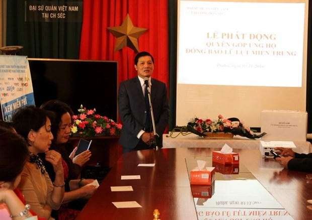 OVs in Czech donate over 2 bln VND to flood victims in central region hinh anh 1
