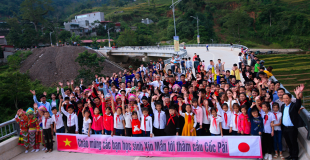 New bridge inaugurated in mountainous area in Ha Giang hinh anh 1