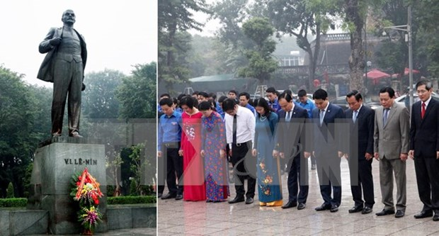 Russia's October Revolution commemorated in Hanoi hinh anh 1