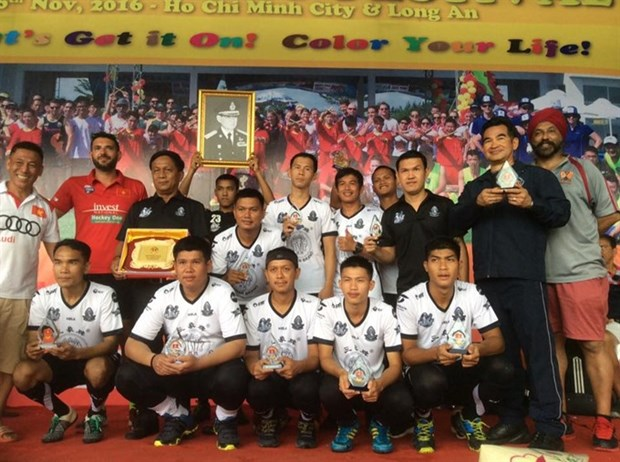 Royal Thai Airforce win men's title at Vietnam hockey festival hinh anh 1