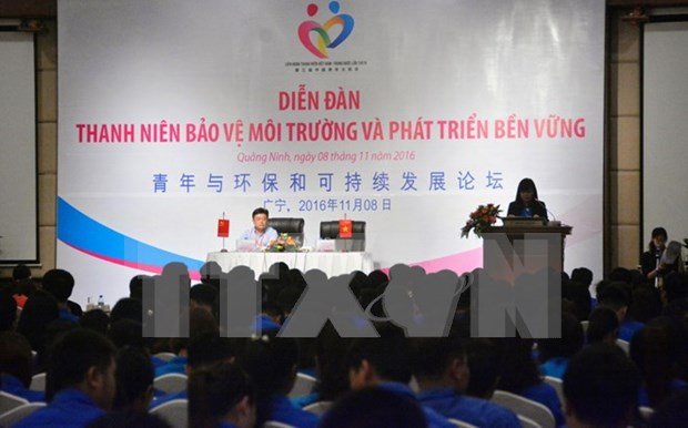 Vietnamese, Chinese youths join hands in environmental protection hinh anh 1