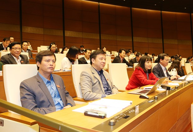 Draft laws, resolutions discussed at NA's second session hinh anh 1