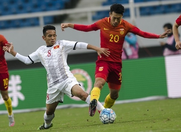 Vietnam U22 team tie goalless with Mexico hinh anh 1