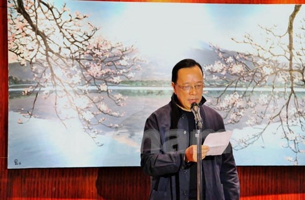 Exhibition of Vietnamese painter begins in Japan hinh anh 1