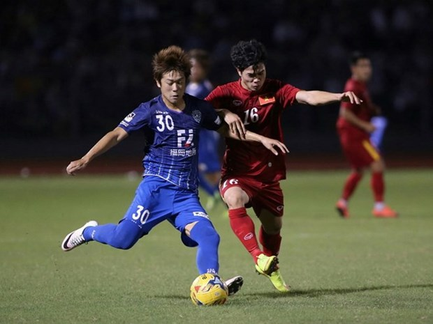 Vietnam tie with Avispa Fukuoka in friendly hinh anh 1