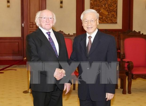 Irish President wraps up State visit to Vietnam hinh anh 1