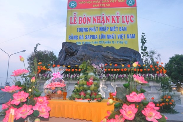 World's biggest jade Buddha statue displayed in Binh Duong hinh anh 1