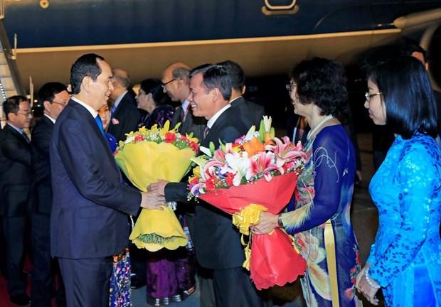 President Tran Dai Quang begins State visit to India hinh anh 1