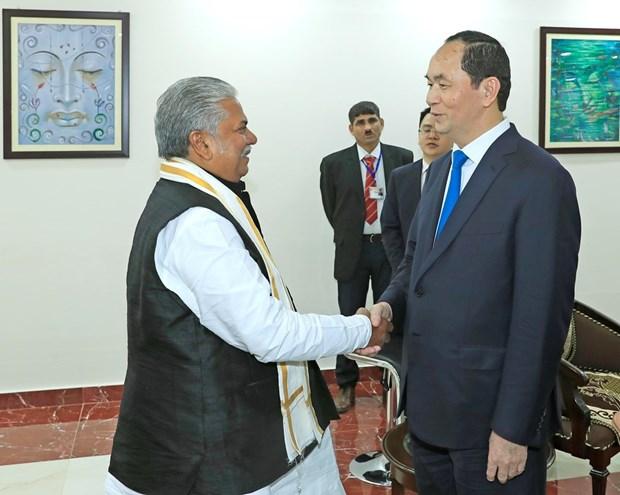 President Tran Dai Quang visits Indian state of Bihar hinh anh 1