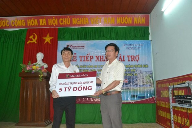 Agribank helps Ly Son district build national-standard kindergarten hinh anh 1