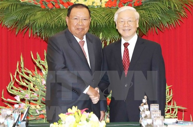 Top Lao leader pays five-day visit to Vietnam hinh anh 1
