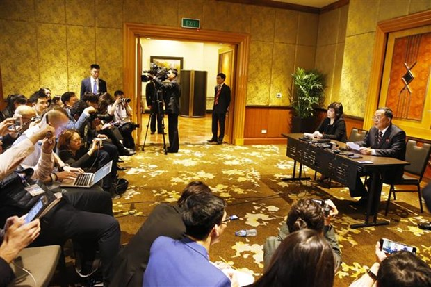 DPRK Foreign Minister holds press conference hinh anh 1
