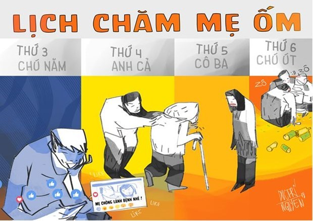 Vietnam Press Caricature contest: Social network behaviors a hot topic hinh anh 3