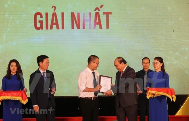 VietnamPlus wins first prize at External Information Service Awards hinh anh 1