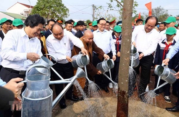 Tree planting - a traditional custom in Lunar New Year festival hinh anh 2