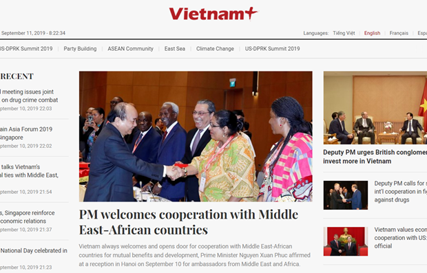 VietnamPlus launches new interface for foreign language versions hinh anh 1
