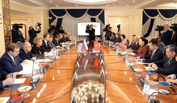 Vietnamese, Russian top legislators hold talks hinh anh 2