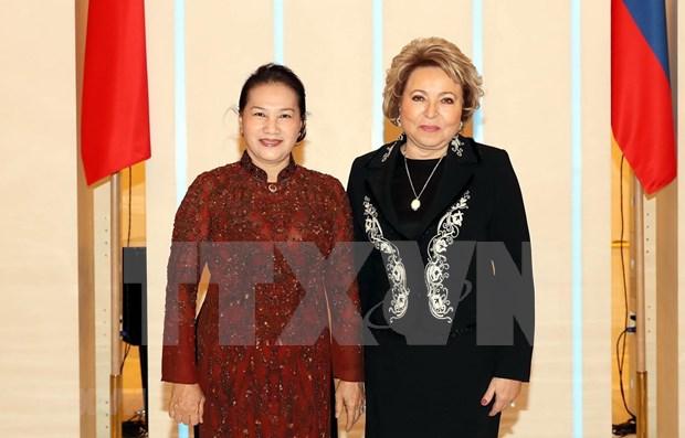 Vietnamese, Russian top legislators hold talks hinh anh 1