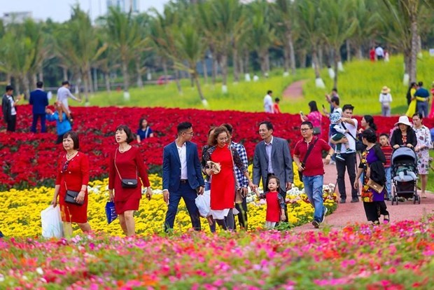 Tourism market bustle as Lunar New Year's coming hinh anh 1
