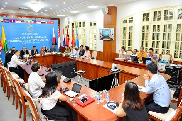 South East Asian Games Federation meets online hinh anh 1