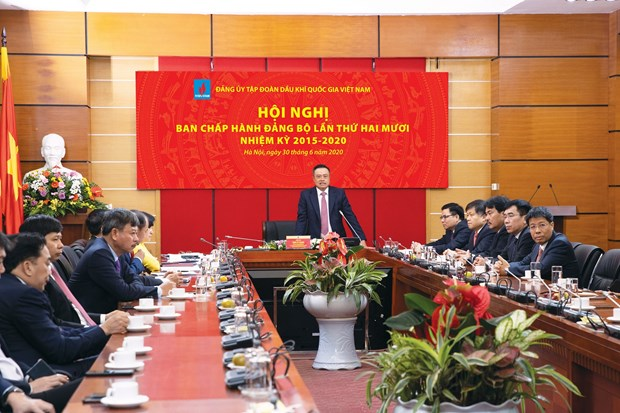 PetroVietnam Party Committee sails through difficulties of last five years hinh anh 2