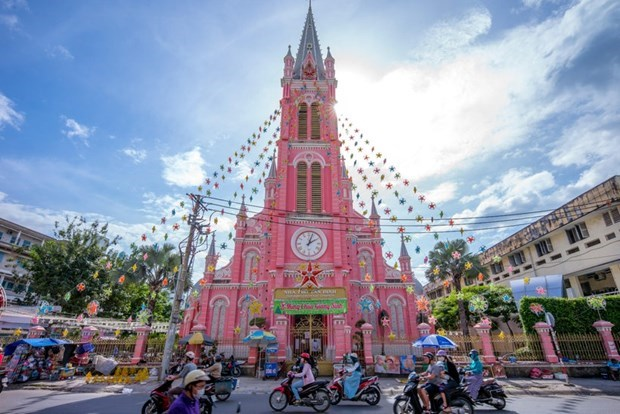 Tan Dinh Church among world's best rosy destinations hinh anh 1