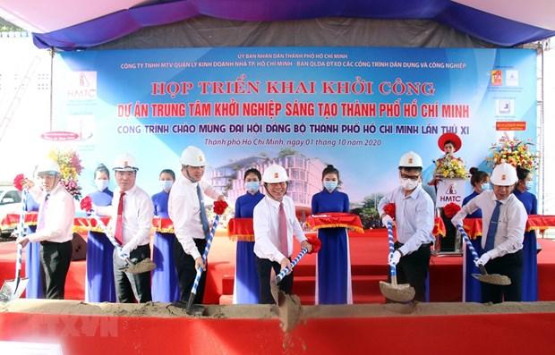 Construction on HCM City innovative start-up centre begins hinh anh 1