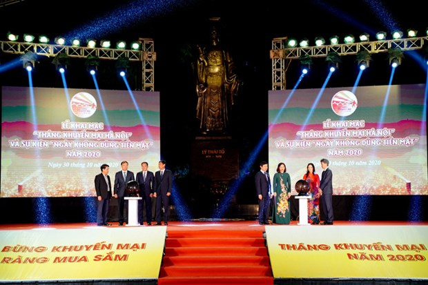 Hanoi launches promotion month and Cash-Free Day 2020 hinh anh 1