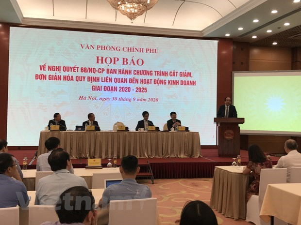 Resolution 68 promotes new reform on business regulations hinh anh 1